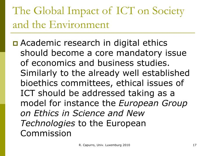 the impacts of ict on academic