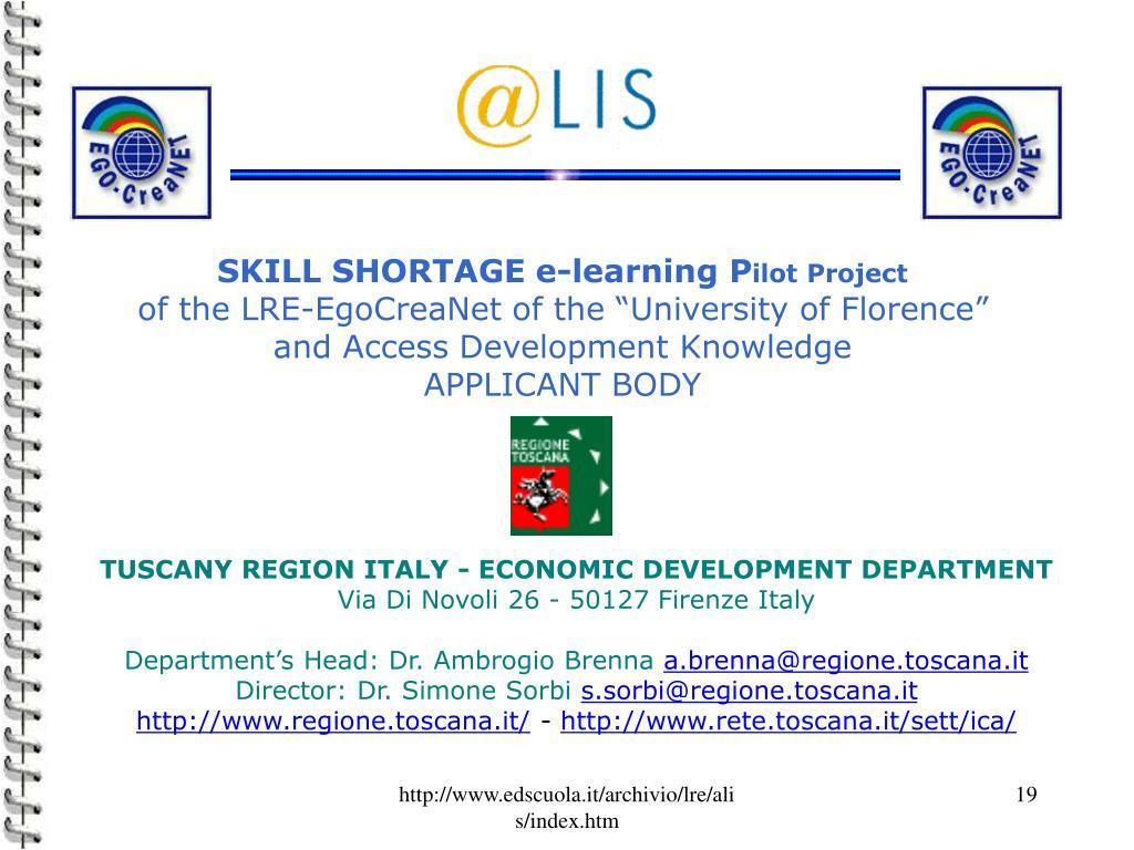 SKILL SHORTAGE e-learning P