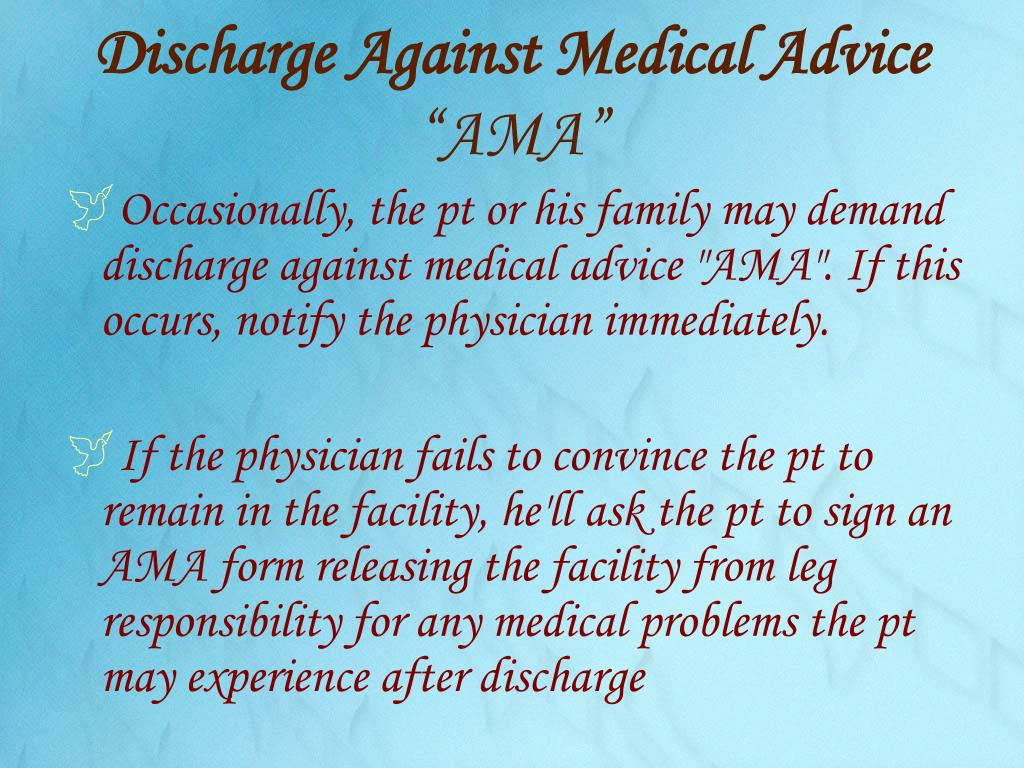Discharge Against Medical Advice