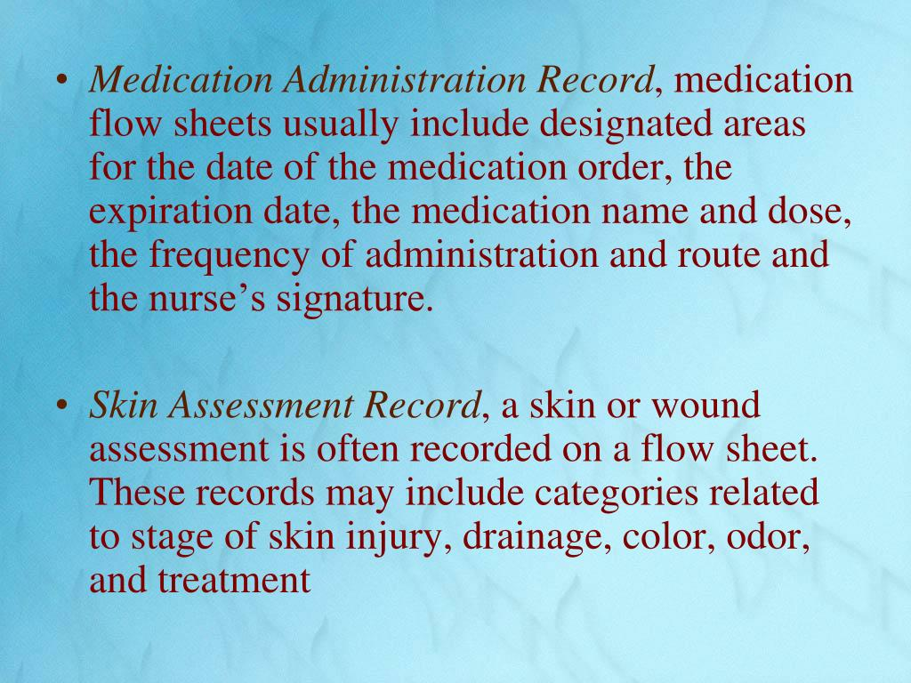 Medication Administration Record