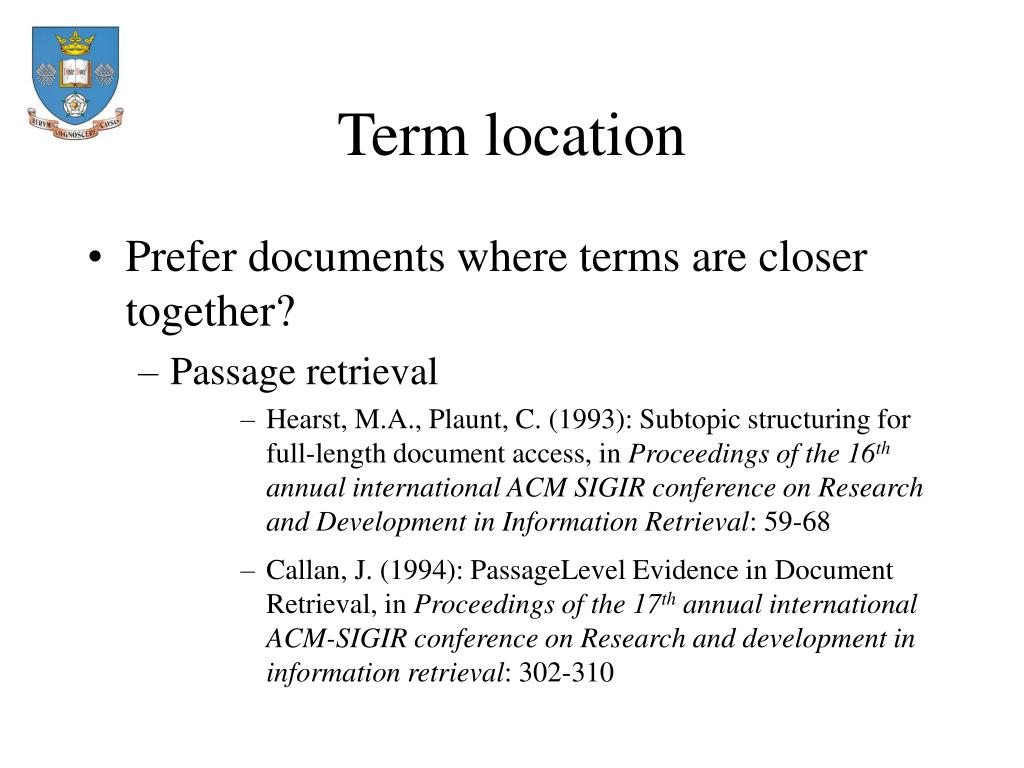 Term location