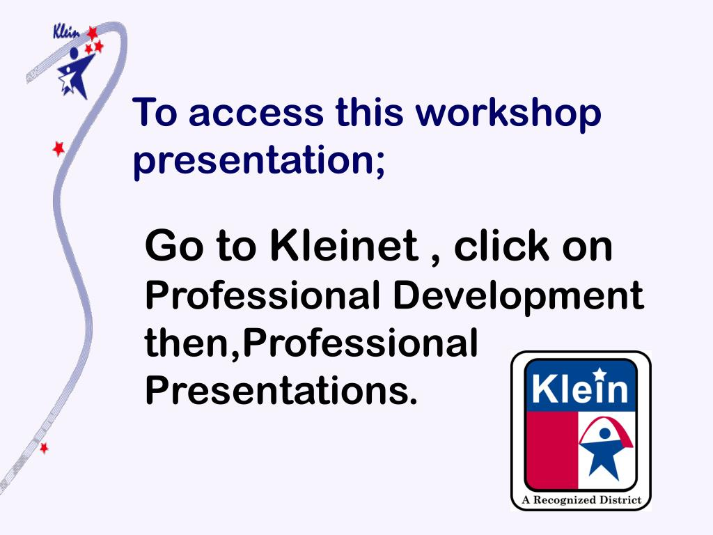 To access this workshop presentation;