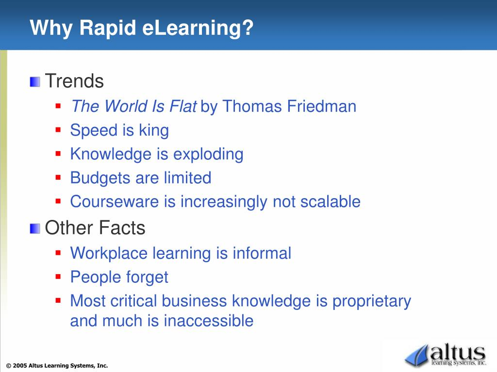 Why Rapid eLearning?
