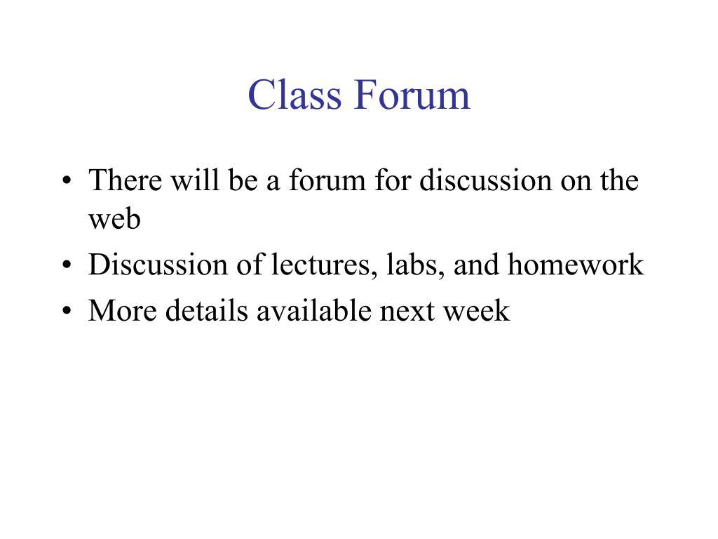 Class Forum