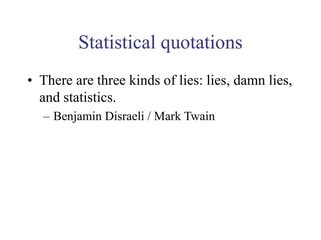 Statistical quotations