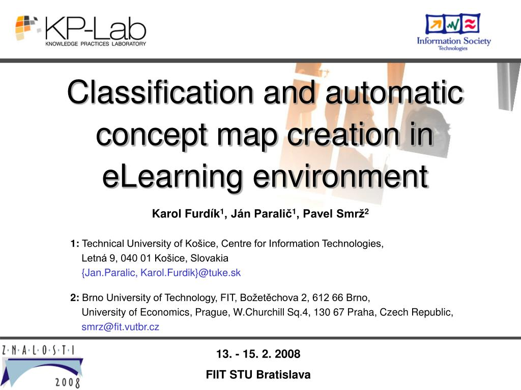 Classification and automatic concept map creation in eLearning environment