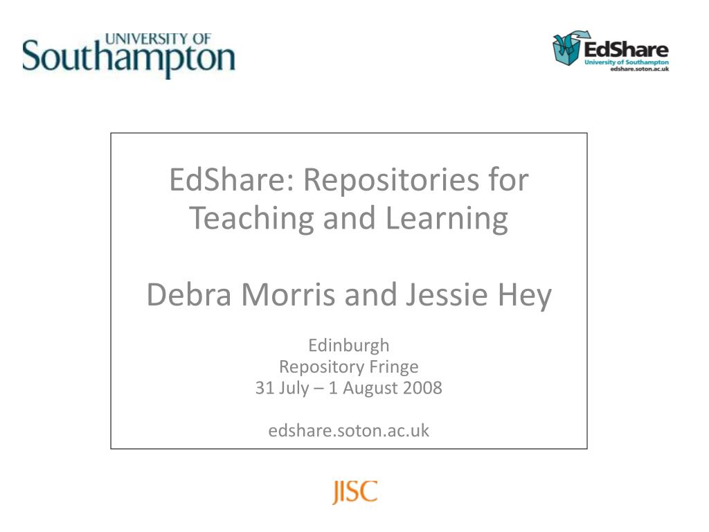 EdShare: Repositories for