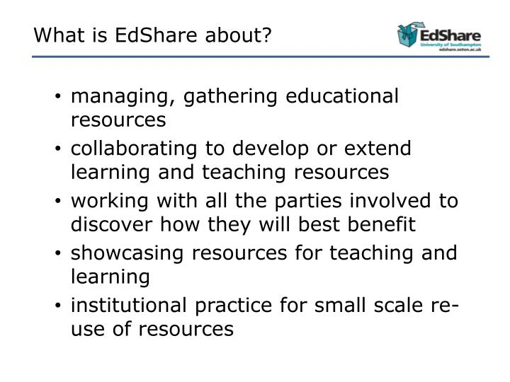 What is EdShare about?