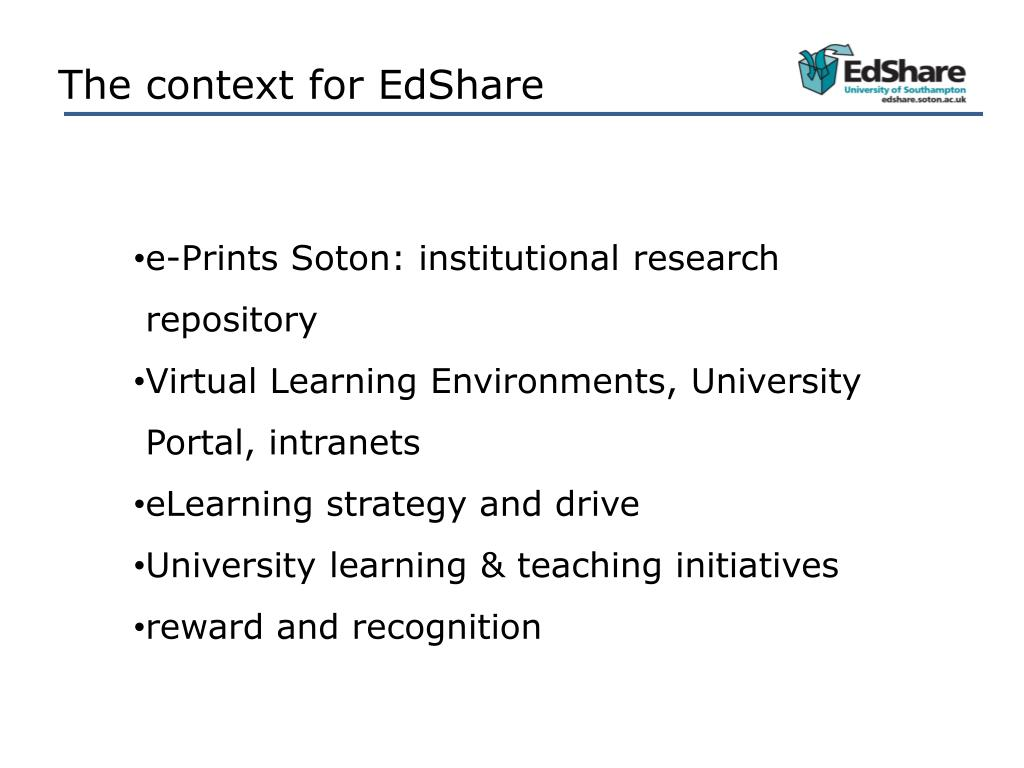 The context for EdShare