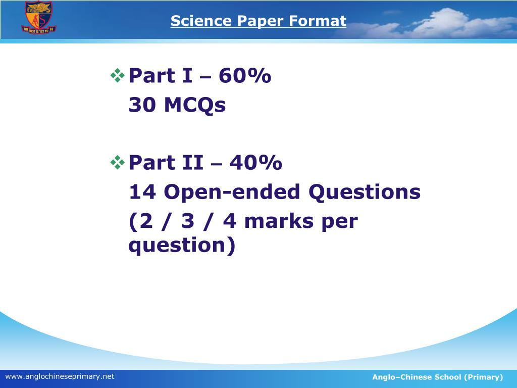 scientific essay layout