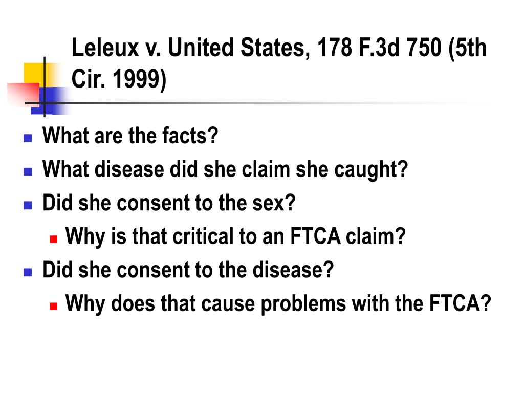 Leleux v. United States, 178 F.3d 750 (5th Cir. 1999)