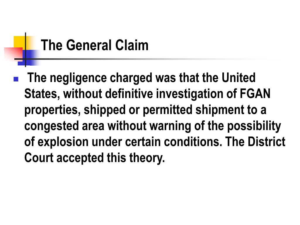 The General Claim