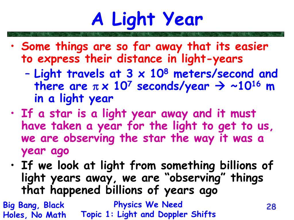 A Light Year