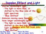 doppler effect and light77
