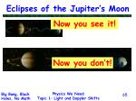 eclipses of the jupiter s moon