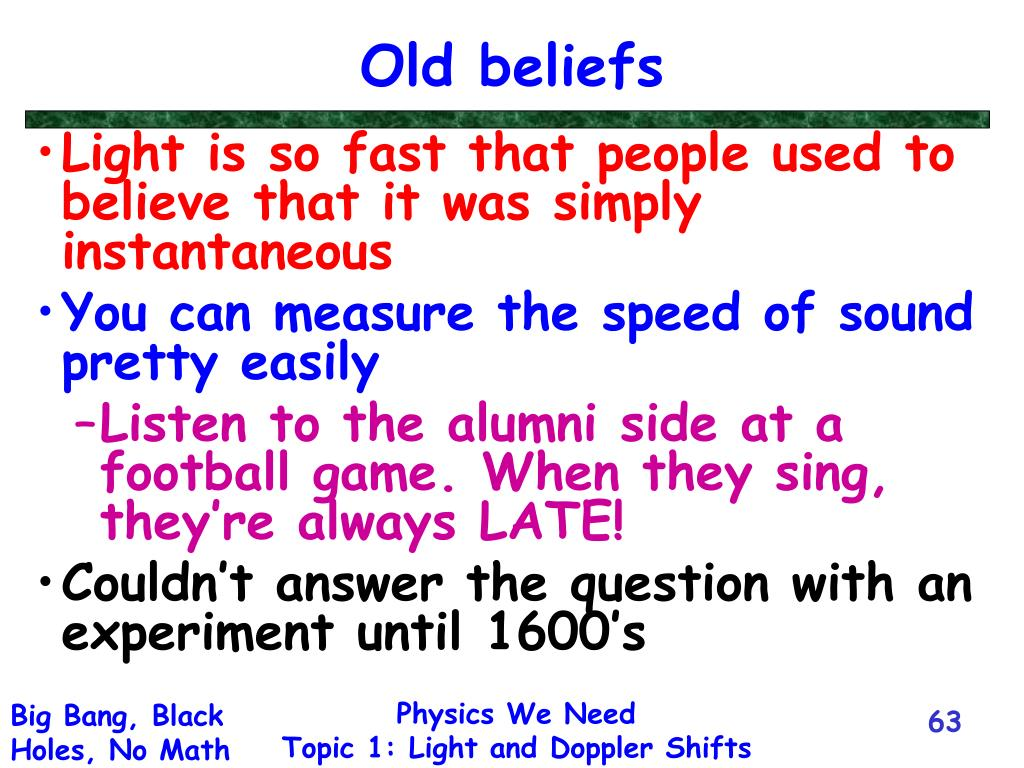 Old beliefs