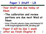 paper 1 stuff l8