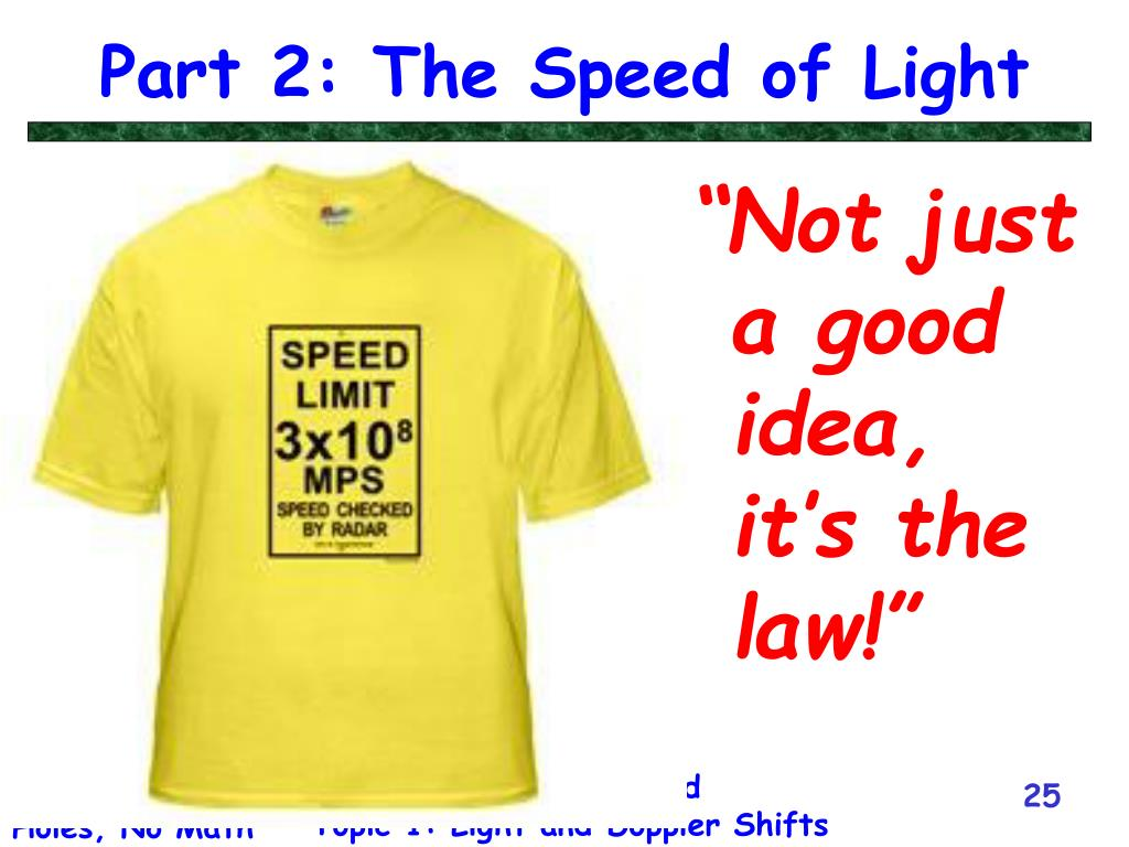 Part 2: The Speed of Light