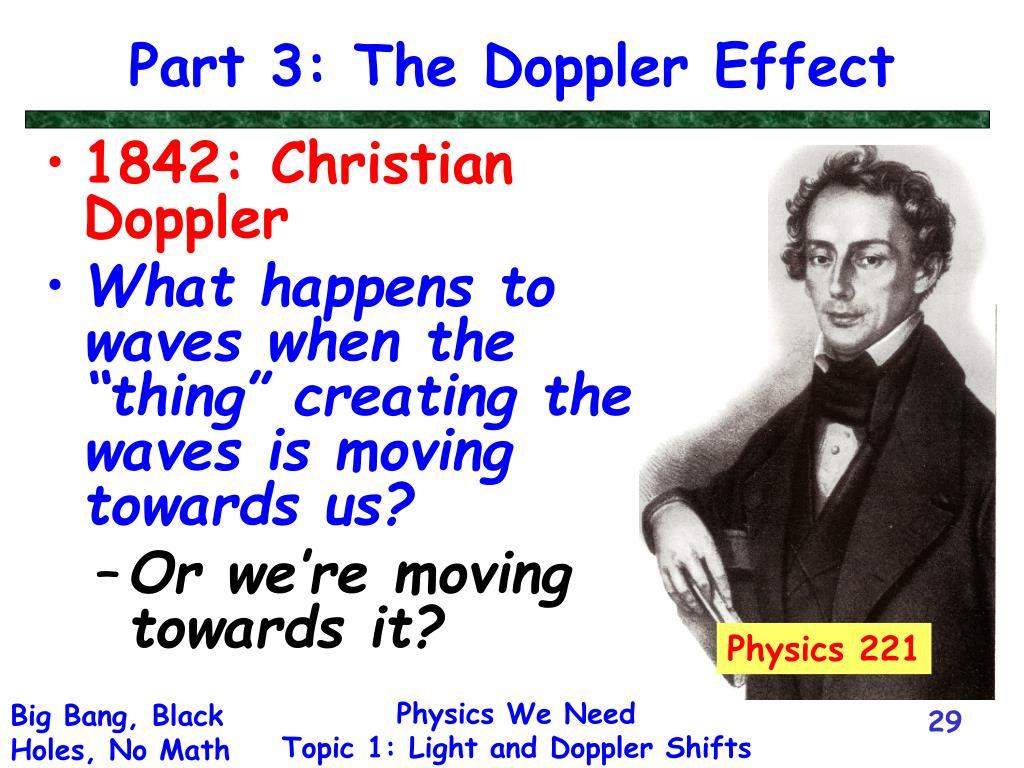 Part 3: The Doppler Effect