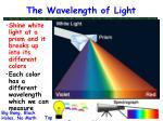the wavelength of light