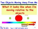 two objects moving away from me40