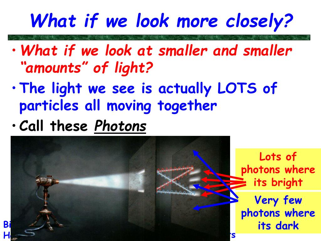 What if we look more closely?
