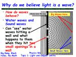why do we believe light is a wave