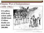 filipino war of independence 1898 1902