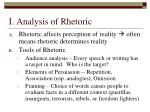 i analysis of rhetoric