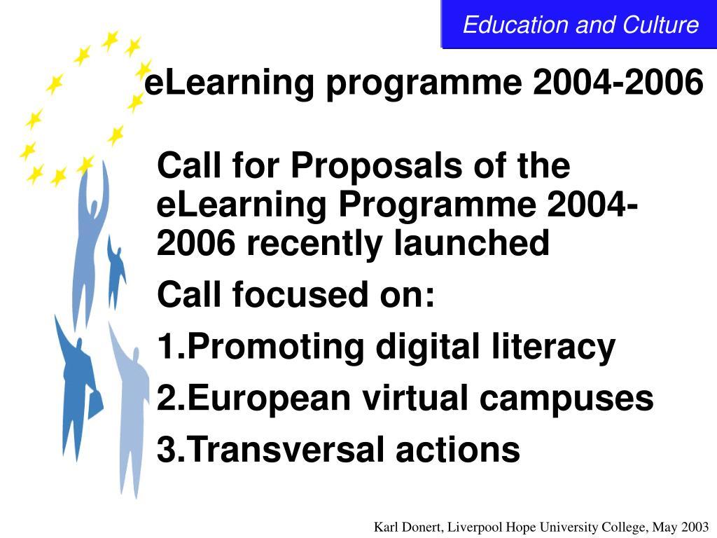 eLearning programme 2004-2006
