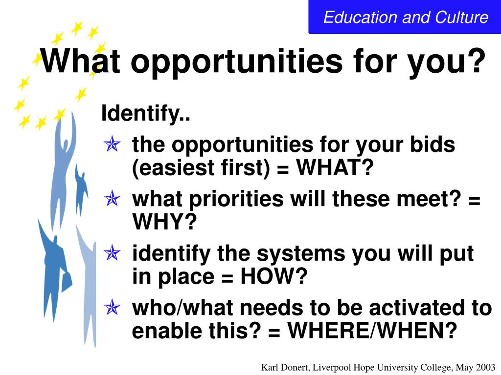 What opportunities for you?