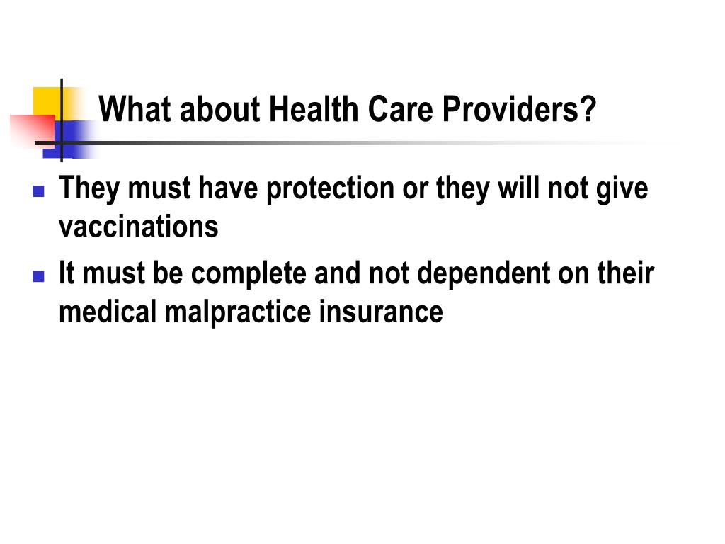 What about Health Care Providers?