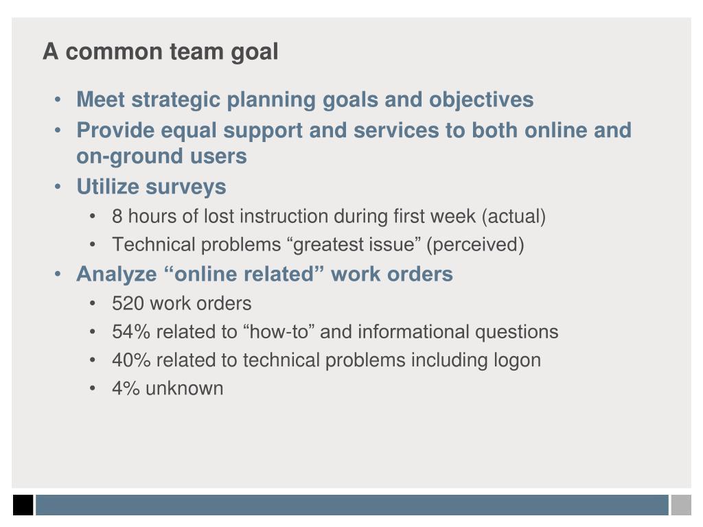 A common team goal