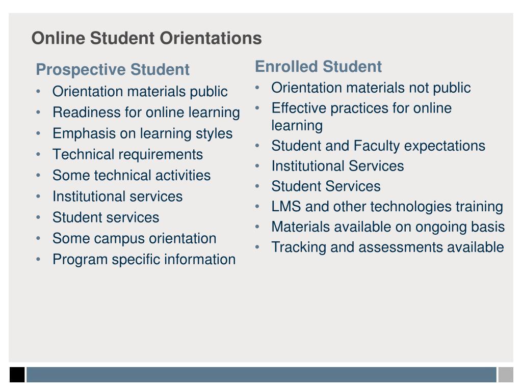 Online Student Orientations