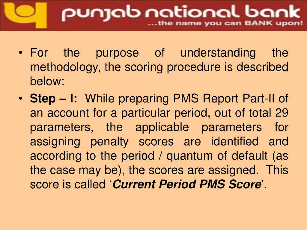 For the purpose of understanding the methodology, the scoring procedure is described below: