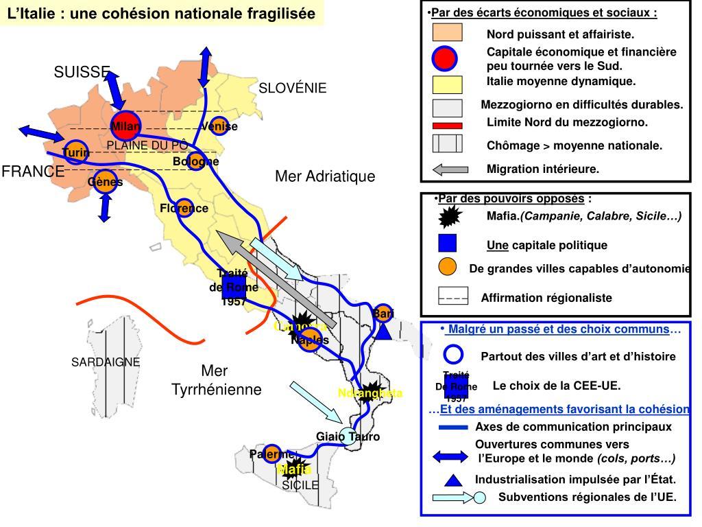 L'Italie : une cohésion nationale fragilisée
