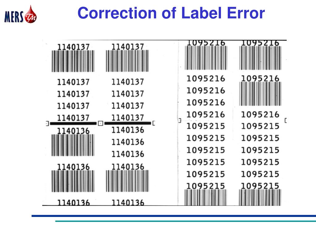 Correction of Label Error