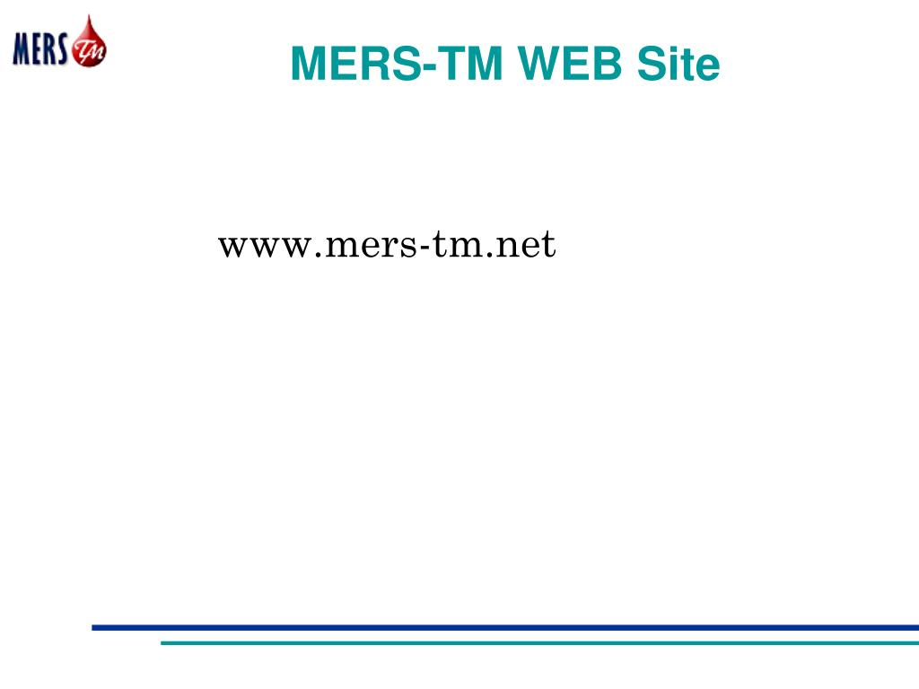MERS-TM WEB Site