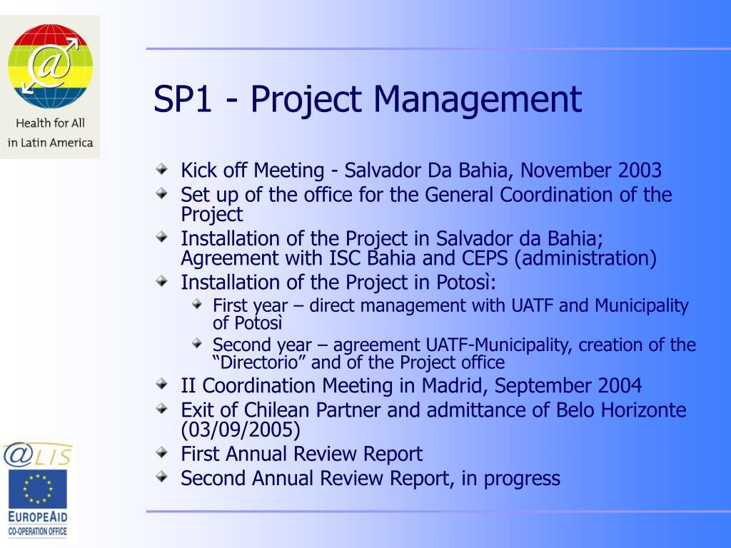 SP1 - Project Management