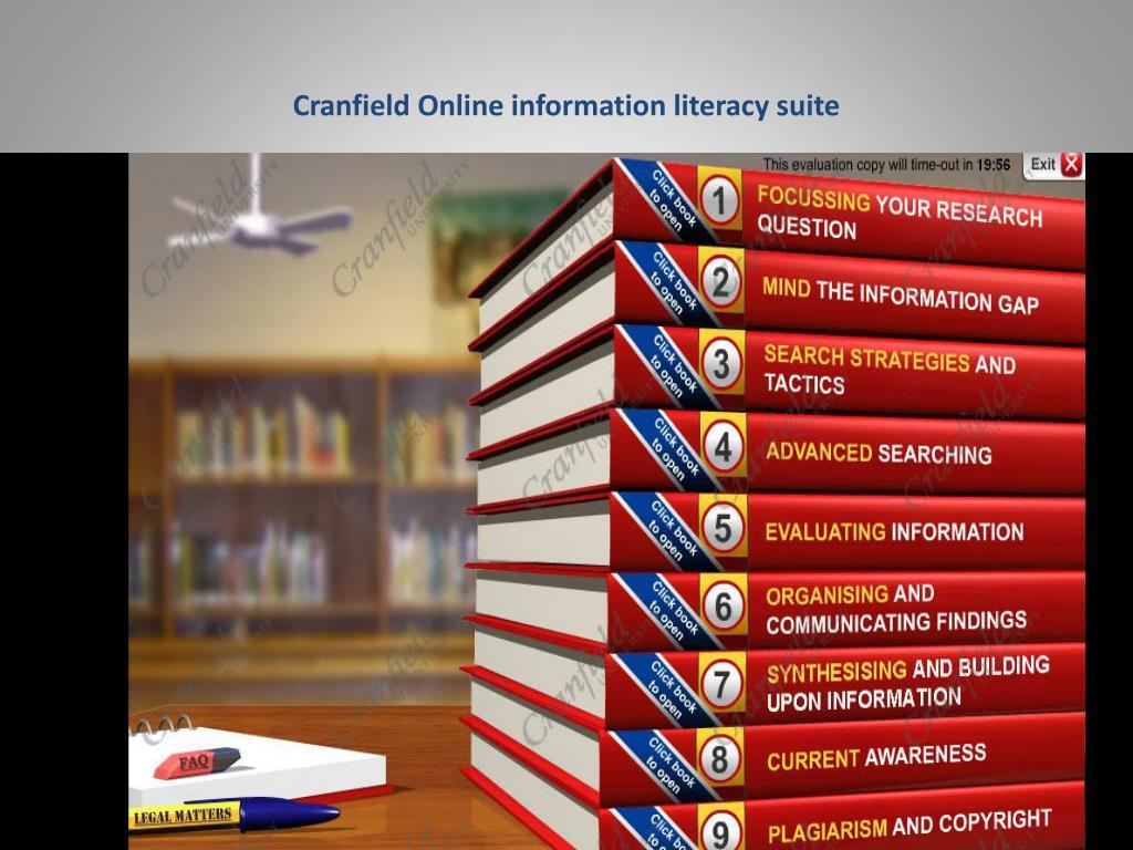 Cranfield Online information literacy suite