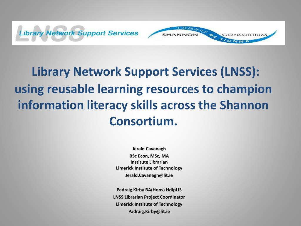 Library Network Support Services (LNSS):