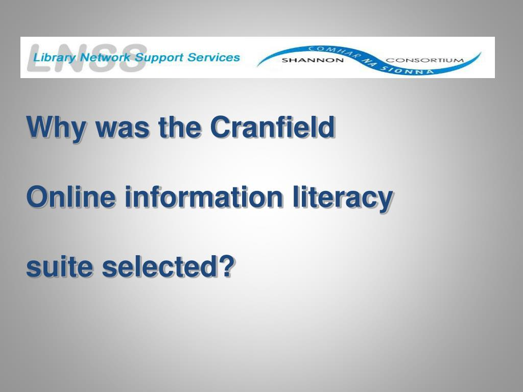 Why was the Cranfield