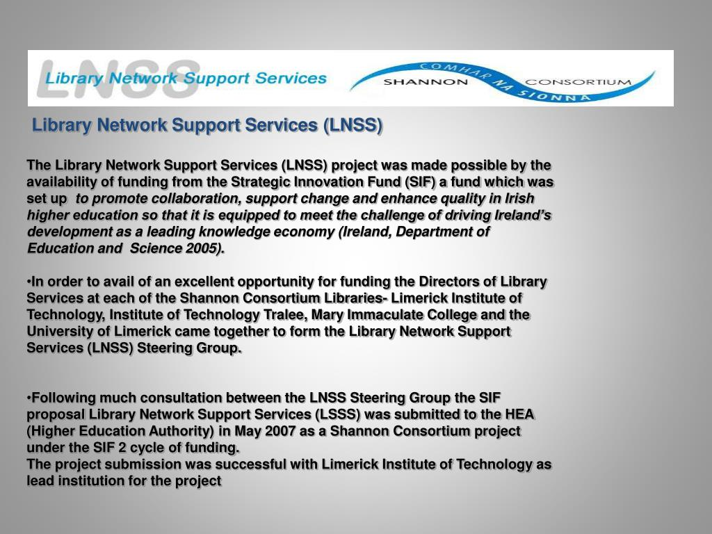 Library Network Support Services (LNSS)