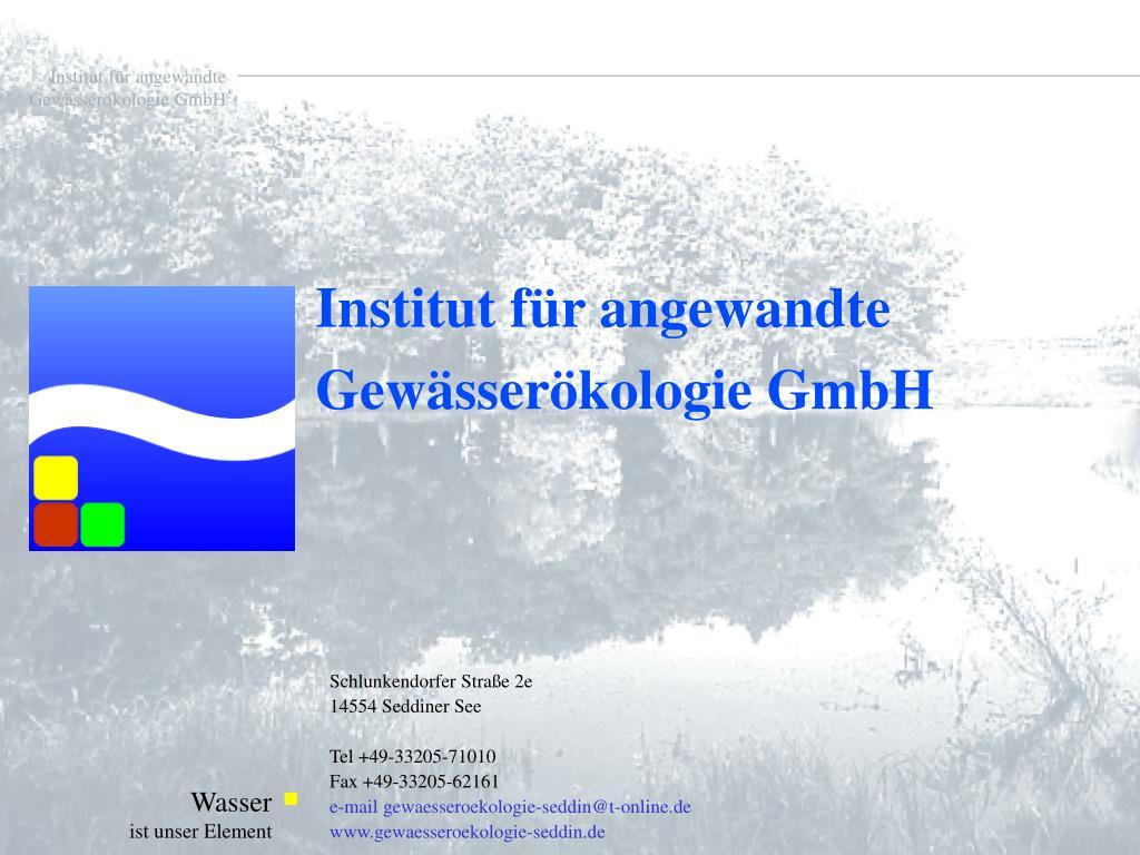 Institut für angewandte