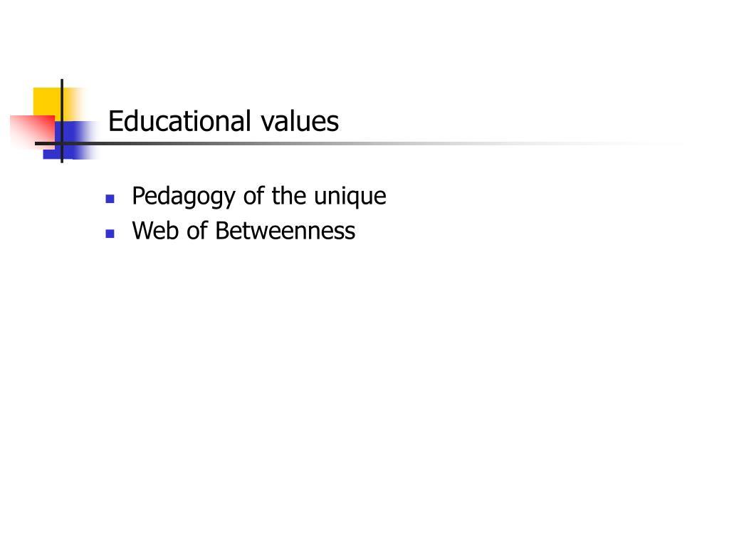 Educational values