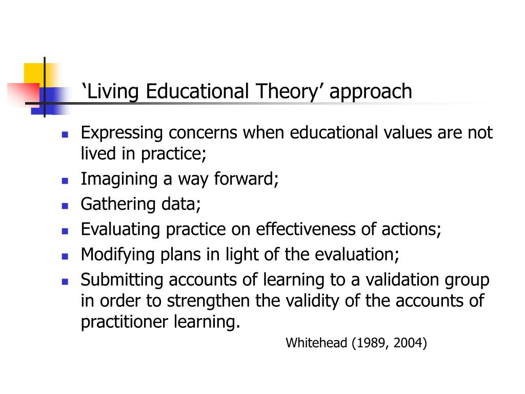'Living Educational Theory' approach