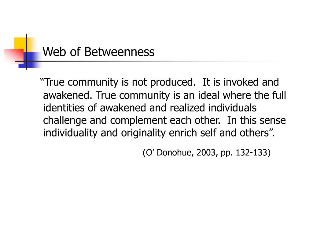 Web of Betweenness