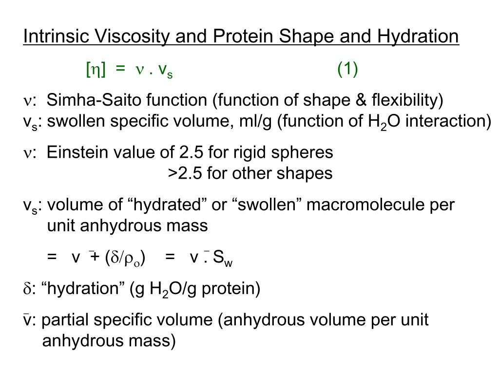 Intrinsic Viscosity and Protein Shape and Hydration