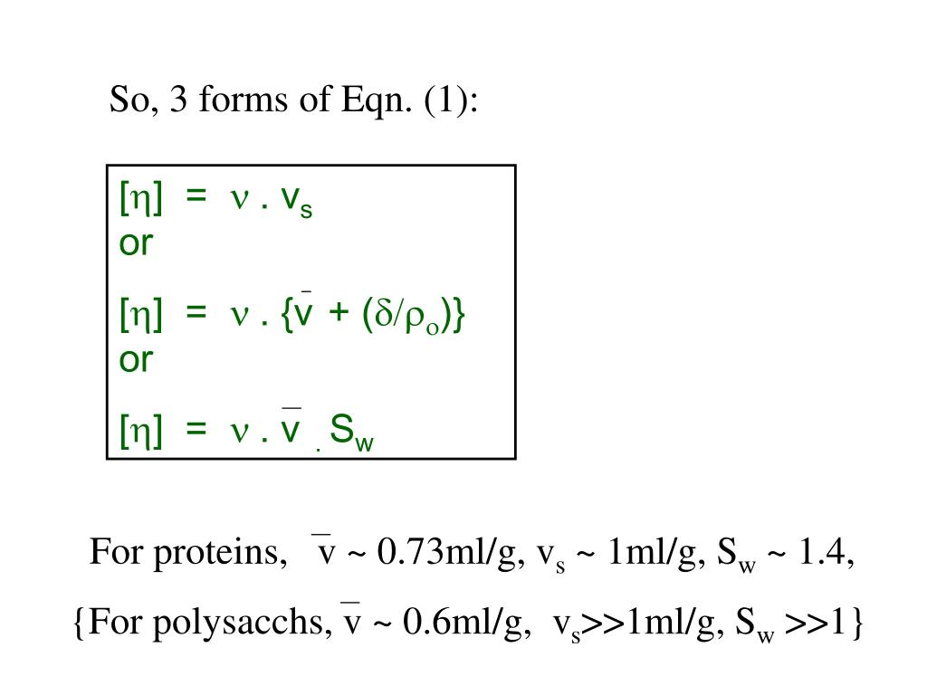 So, 3 forms of Eqn. (1):