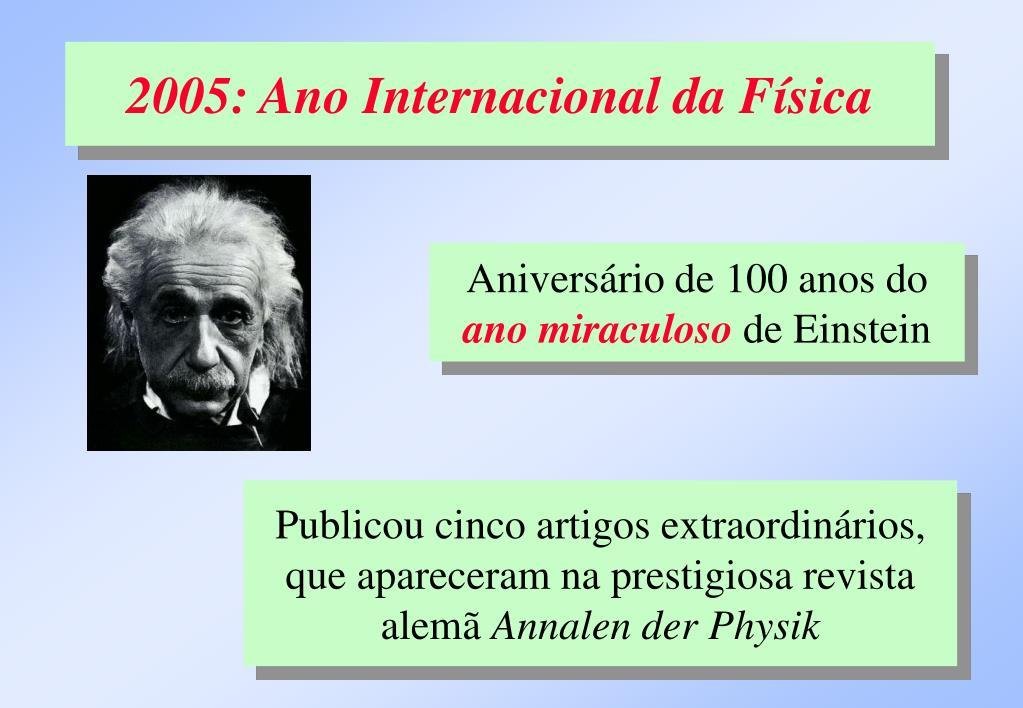 2005: Ano Internacional da Física